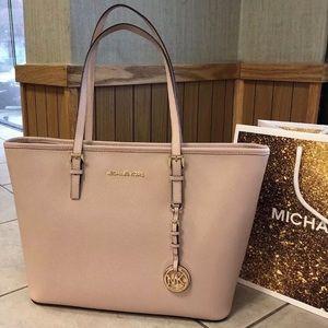 $278 Michael Kors Jet Set Handbag Purse MK Bag